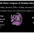 This year's Wateree Baptist Association Upper Division (WBAUD) Midwinter Education Session will be held January 25-29, 2016. Classes will be held from 6:30 – 8:30 p.m. at Jerusalem Baptist Church. Take […]