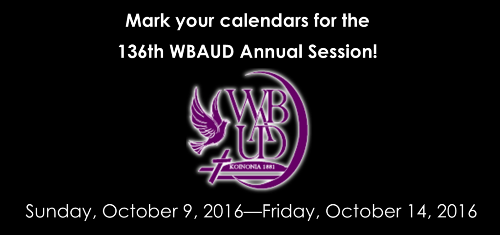 Mark Calendars for Annual Session