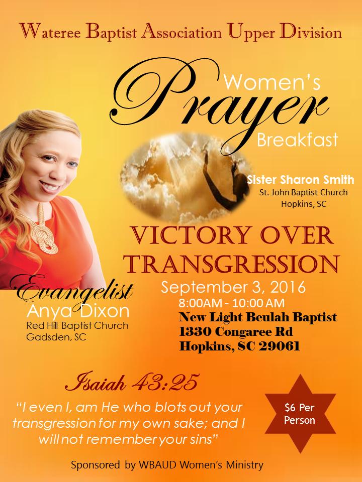WM Prayer Breakfast Flyer