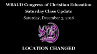 The Sunday School workshop scheduled for Saturday, December 6, 2016 at New Mt. Olive Baptist Church will NOW be held at Mt. Nebo Baptist Church, 8801 Bluff Road, Eastover, SC […]