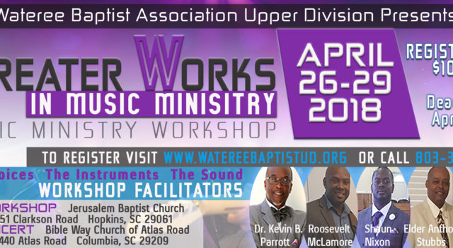 The Wateree Baptist Association Upper Division is sending out a call for us to stand together in faith and unity by participating in our Community Gospel Choir Workshop. This musical […]