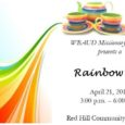Join us for our Annual Rainbow Tea on April 21, 2018!