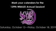 Mark your calendars for the Wateree Baptist Association Upper Division (WBAUD) 139th Annual Session, October 12-18, 2019! Host Church: Mt Nebo Baptist Church, 8801 Bluff Road, Eastover, SC 29044