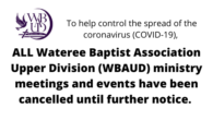 To help prevent the spread of the coronavirus (COVID-19), all association meetings and events will be cancelled until further notice. Please be sure to check with your particular church to […]